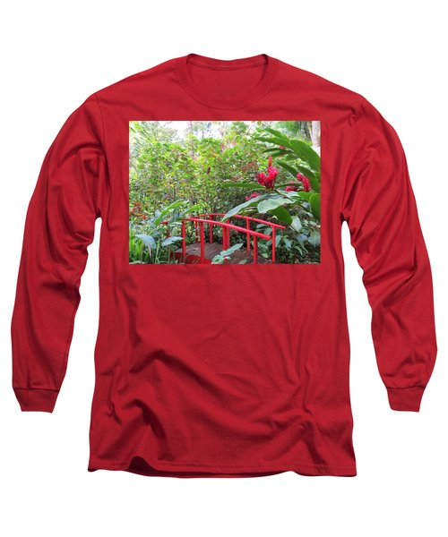 Red Bridge Long Sleeve T-Shirt by Teresa Wing