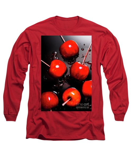 Red Candy Apples Or Apple Taffy Long Sleeve T-Shirt