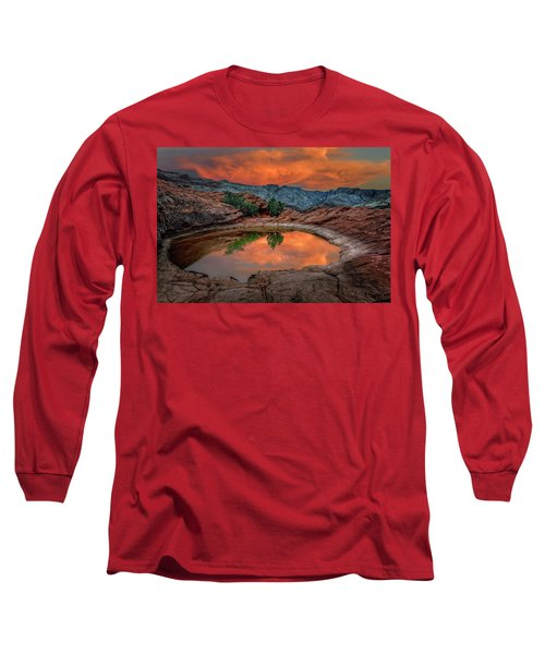 Red Canyon Reflection Long Sleeve T-Shirt