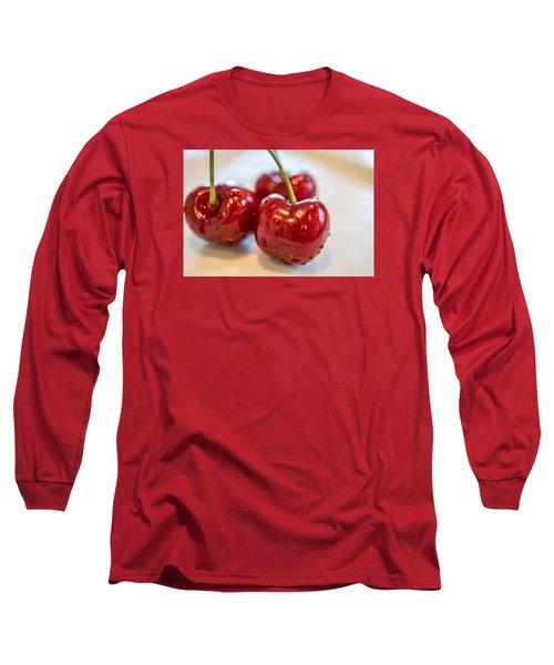 Red Cherries Long Sleeve T-Shirt by Sabine Edrissi