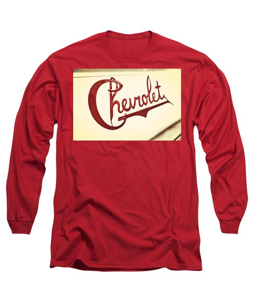 Red Chevy Long Sleeve T-Shirt by Caitlyn  Grasso