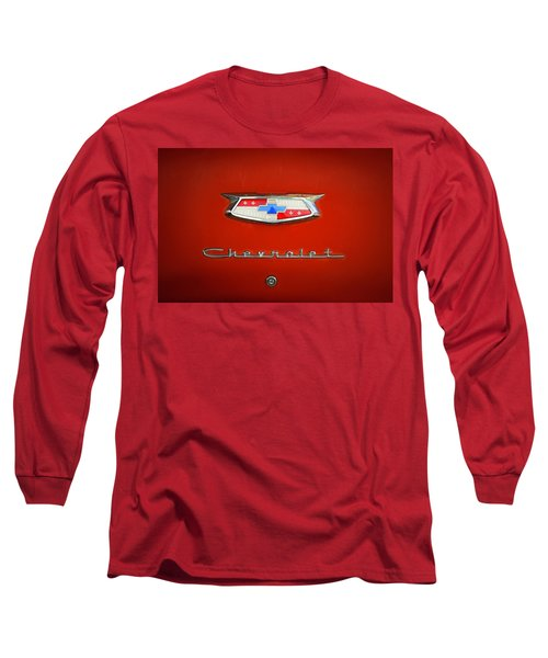 Long Sleeve T-Shirt featuring the photograph Red Chevy Bel-air Trunk by Marilyn Hunt