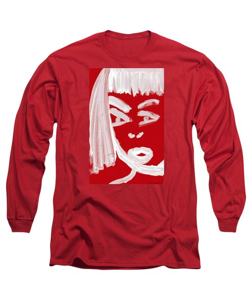 Long Sleeve T-Shirt featuring the painting Red Chinese Girl by Don Koester