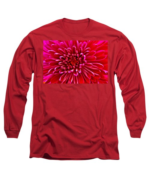 Red Chrysanthemum Long Sleeve T-Shirt