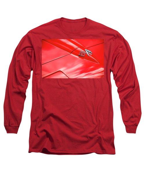 Red Corvette Hood Long Sleeve T-Shirt
