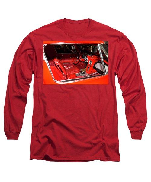 Red Corvette Stingray Long Sleeve T-Shirt by Amyn Nasser