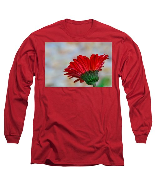 Red Daisy  Long Sleeve T-Shirt by John Harding