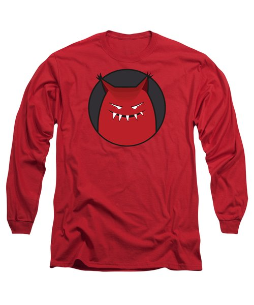 Red Evil Monster With Pointy Ears Long Sleeve T-Shirt