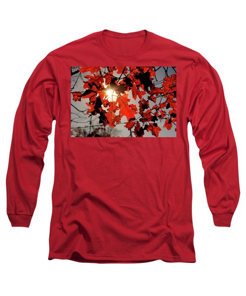 Red Fall Leaves Long Sleeve T-Shirt
