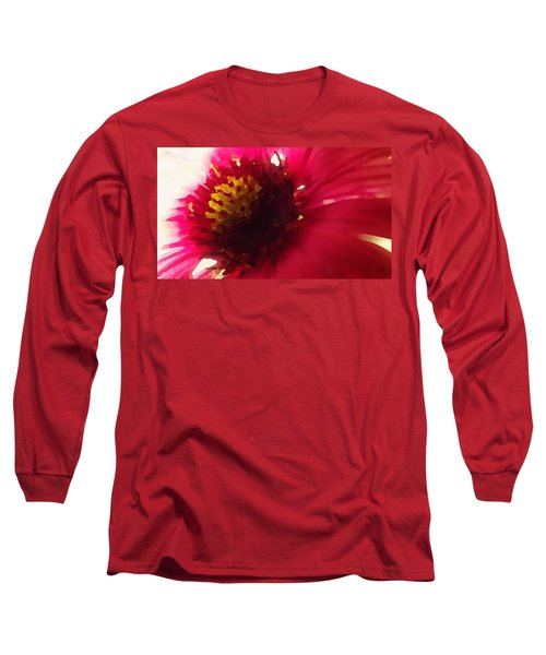 Red Flower Abstract Long Sleeve T-Shirt