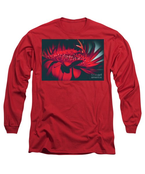 Long Sleeve T-Shirt featuring the photograph Red Flowers Parametric by Sharon Mau
