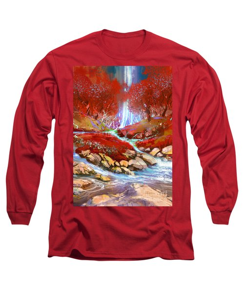 Red Forest Long Sleeve T-Shirt