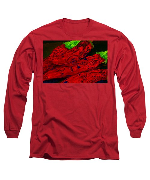 Red Hot Chili 2 Long Sleeve T-Shirt by Stephen Anderson
