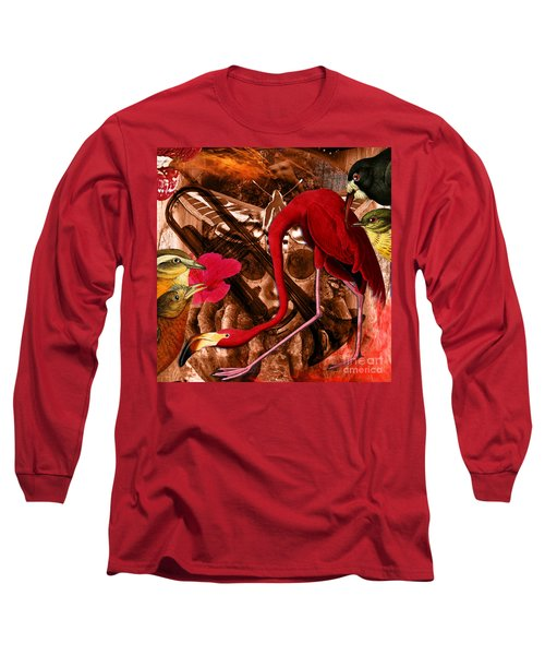 Red Hot Soul Music Long Sleeve T-Shirt by Joseph Mosley