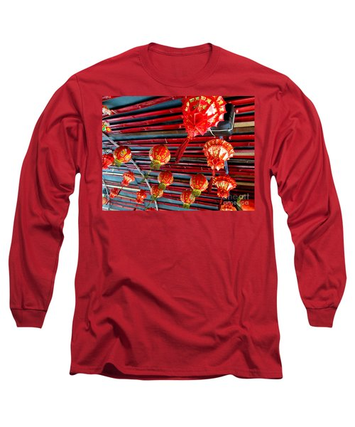 Long Sleeve T-Shirt featuring the photograph Red Lanterns 3 by Randall Weidner