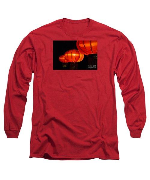 Red Lanterns Long Sleeve T-Shirt by Rebecca Davis