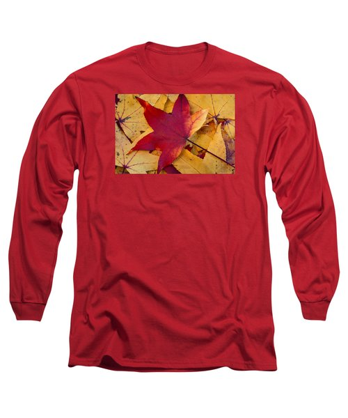Long Sleeve T-Shirt featuring the photograph Red Leaf by Chevy Fleet