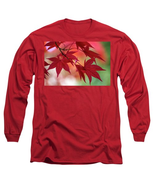 Long Sleeve T-Shirt featuring the photograph Red Leaves by Clare Bambers