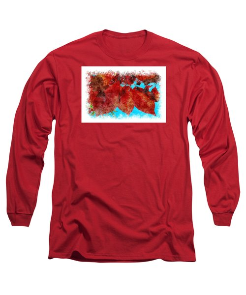 Long Sleeve T-Shirt featuring the photograph Red Leaves by Jean Bernard Roussilhe