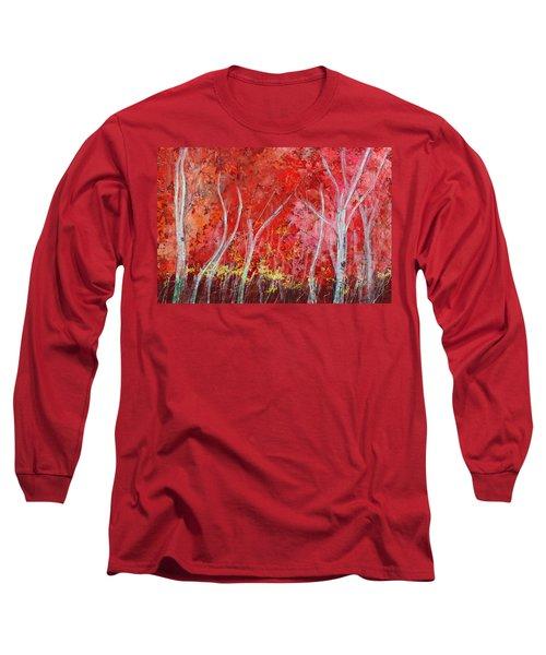 Crimson Leaves Long Sleeve T-Shirt