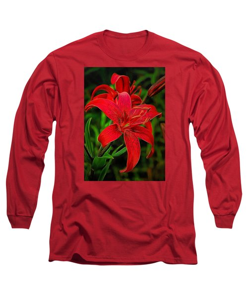 Red Lily Long Sleeve T-Shirt