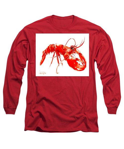 Red Lobster Long Sleeve T-Shirt by Suren Nersisyan