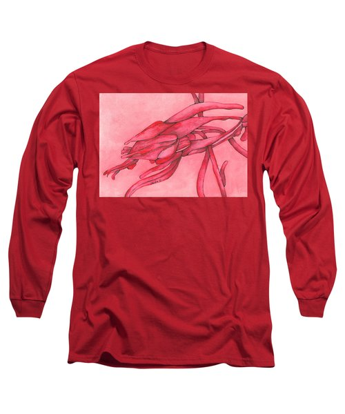 Red Lust Long Sleeve T-Shirt by Versel Reid