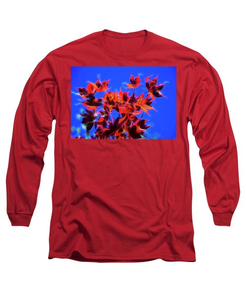 Red Maple Leaves Long Sleeve T-Shirt by Yulia Kazansky