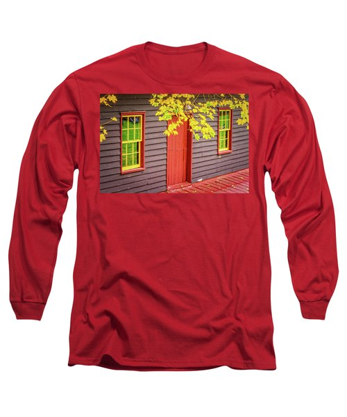 Red Mill Door In Fall Long Sleeve T-Shirt