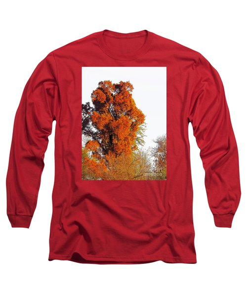 Red-orange Fall Tree Long Sleeve T-Shirt