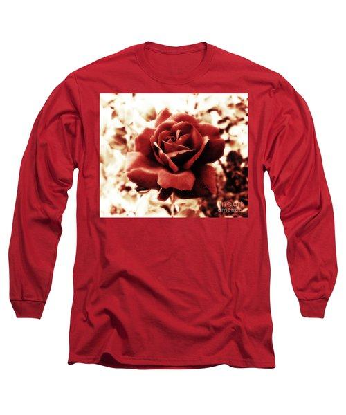 Red Petals Long Sleeve T-Shirt