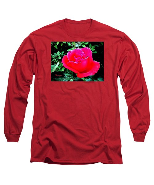 Long Sleeve T-Shirt featuring the photograph Red-pink Rose by Sadie Reneau
