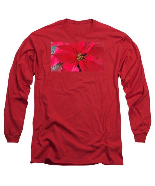 Red Poinsettia Long Sleeve T-Shirt