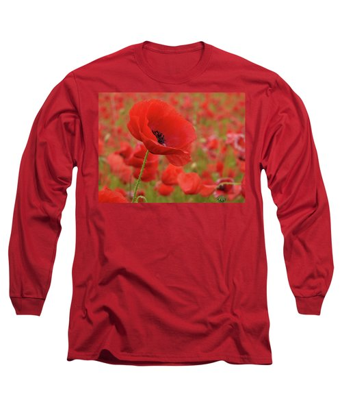 Red Poppies 3 Long Sleeve T-Shirt