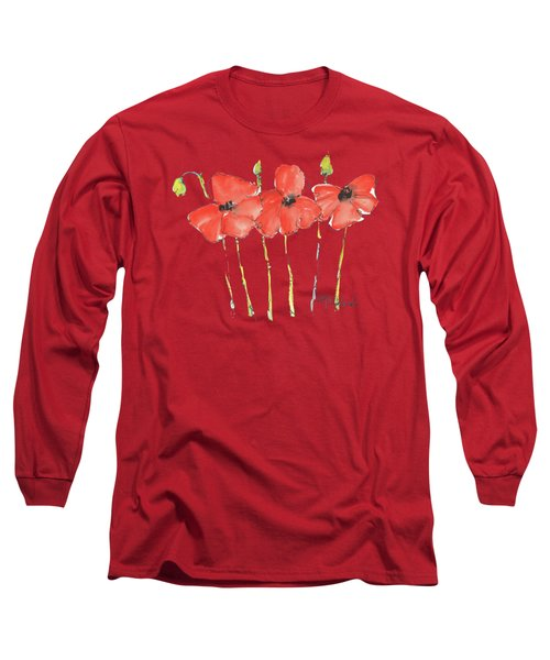 Red Poppy Play Long Sleeve T-Shirt