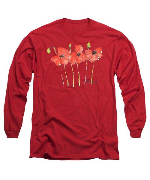Red Poppy Play Long Sleeve T-Shirt