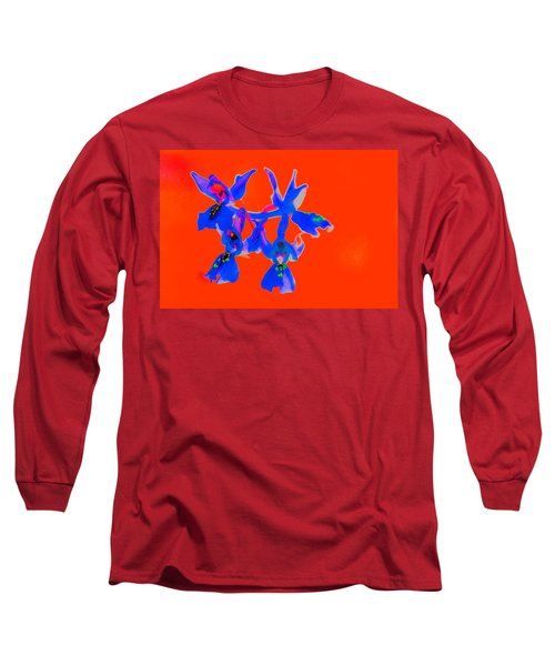 Red Provence Orchid Long Sleeve T-Shirt by Richard Patmore