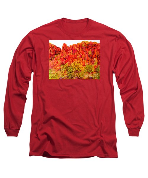 Red Rock Canyon Veiw From The Loop Long Sleeve T-Shirt by Vicki  Housel