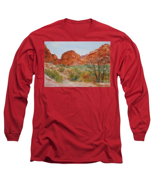 Red Rock Canyon Long Sleeve T-Shirt by Vicki  Housel