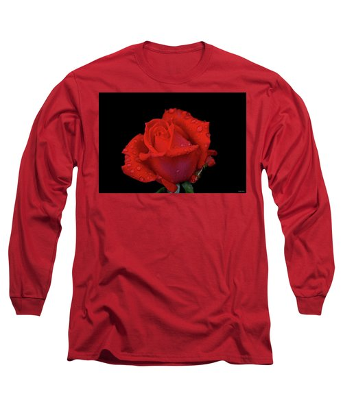 Long Sleeve T-Shirt featuring the photograph Red Rose 013 by George Bostian