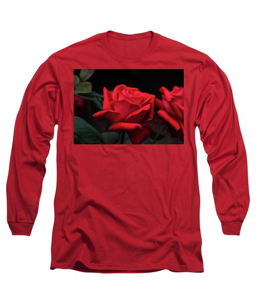 Long Sleeve T-Shirt featuring the photograph Red Rose 014 by George Bostian