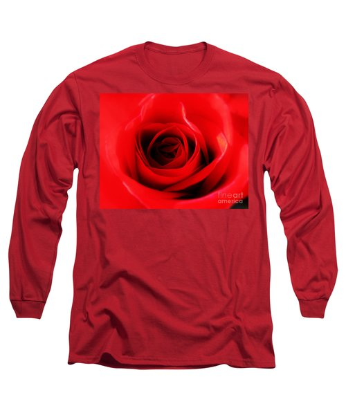 Long Sleeve T-Shirt featuring the photograph Red Rose by Nina Ficur Feenan