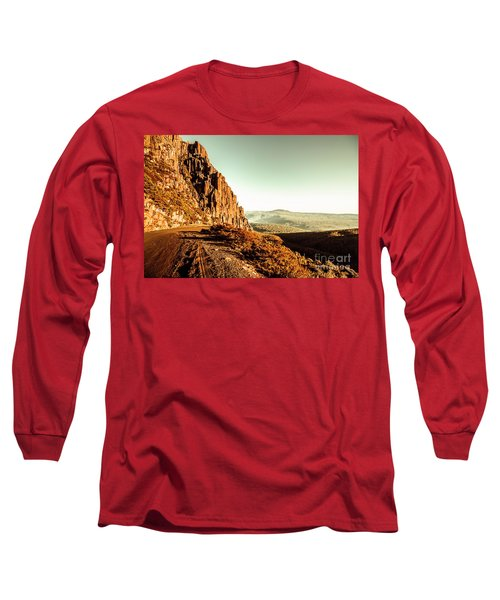 Red Rural Road Long Sleeve T-Shirt