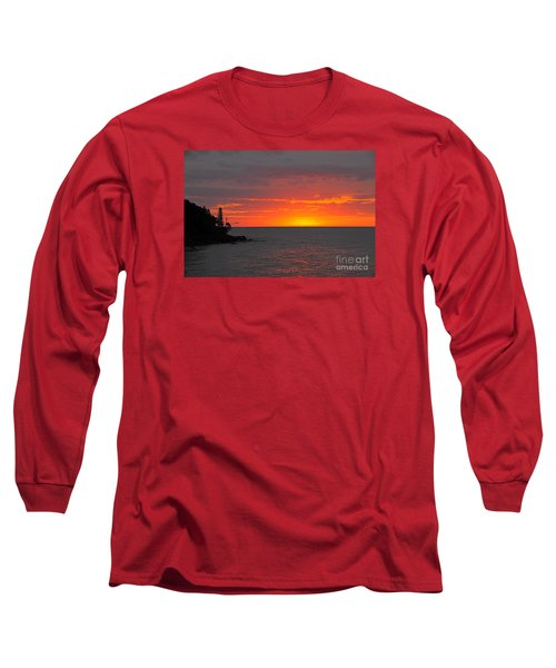 Long Sleeve T-Shirt featuring the photograph Red Sky In Morning by Sandra Updyke