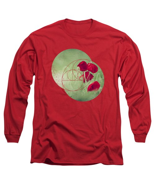 Red Spots - Poppies In A Field Long Sleeve T-Shirt
