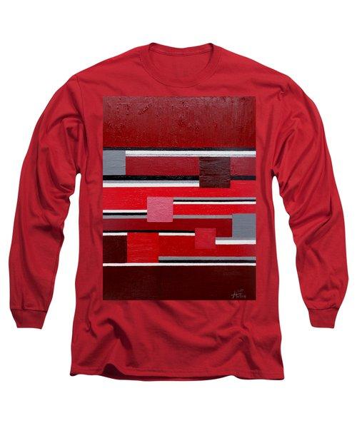 Red Square Long Sleeve T-Shirt by Tara Hutton