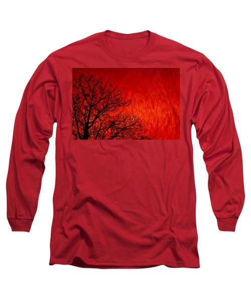 Red Storm Long Sleeve T-Shirt by Charuhas Images
