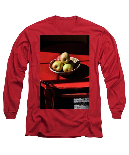 Red Table Apple Still Life Long Sleeve T-Shirt