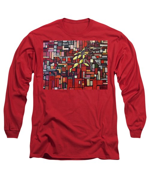 Long Sleeve T-Shirt featuring the painting Red Tango by Joanne Smoley