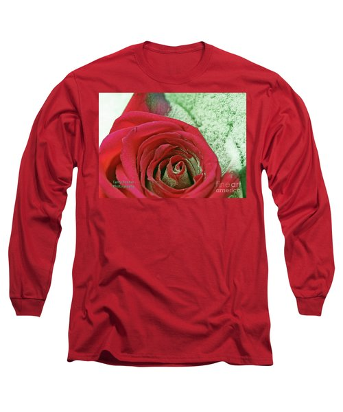 Red Long Sleeve T-Shirt by Terry Foster